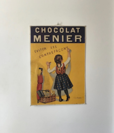 Poster op karton Chocolat Menier circa 1920