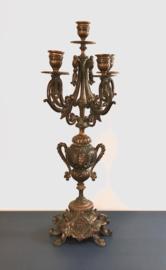 Antieke Franse kandelaar kandelaber urn vorm amphora kruik vorm
