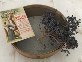 Vintage Franse zeef hout/metaal prachtig vergrijsd