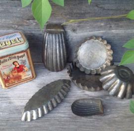 Madeleines vormpjes taartvormpjes gebaksvormpjes bakvormpjes vintage