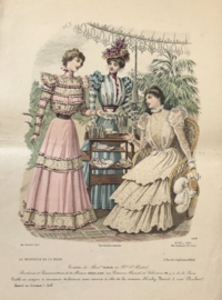 Le Moniteur de la Mode lithographie Abel Gouband Ed. Paris F