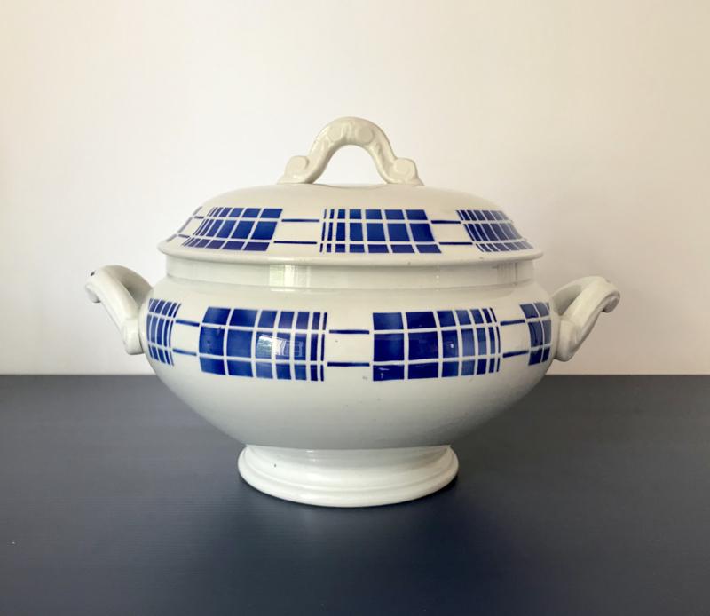 Soupière K & G Lunéville terrine blauw