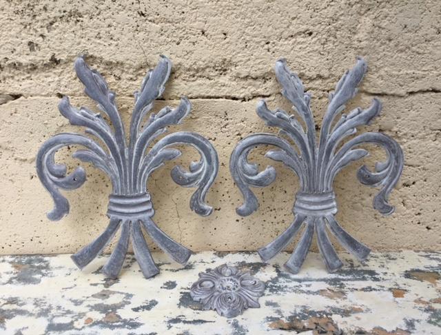 Super Franse gietijzeren ornamenten korenschoof schoof pluim | Decoratie NC-21