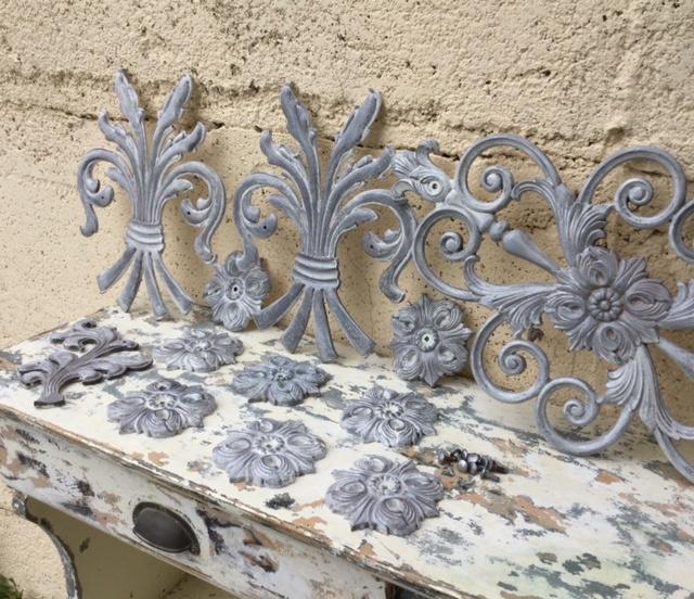 Nieuw Franse gietijzeren ornamenten korenschoof schoof pluim | Decoratie RH-44