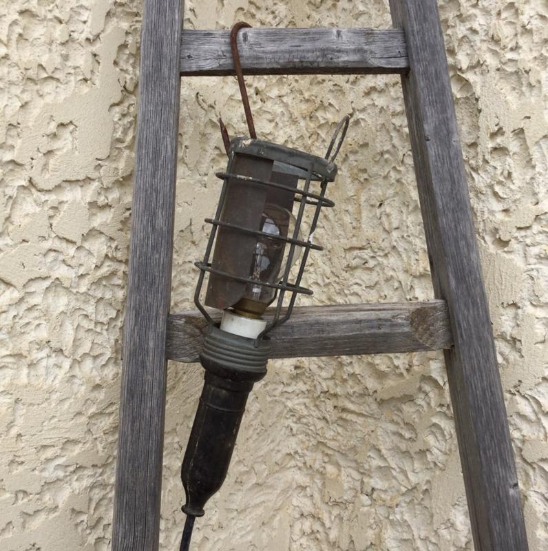 Industriële Franse looplamp kooilamp