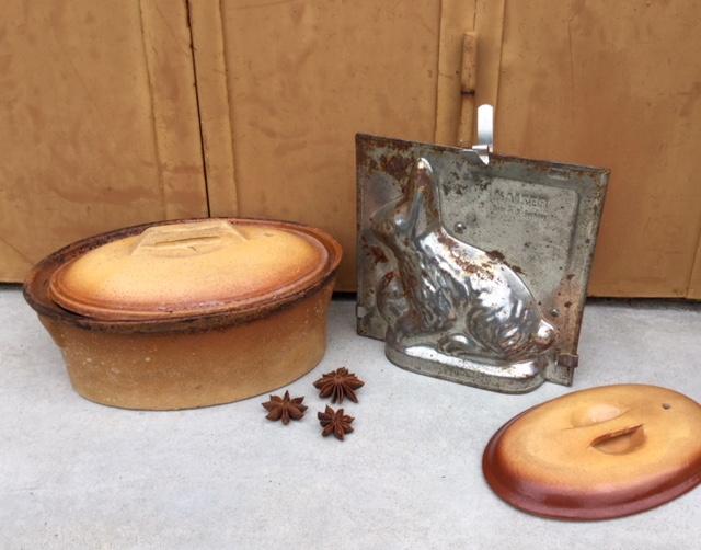 Franse chocolademal konijn van Kaiser