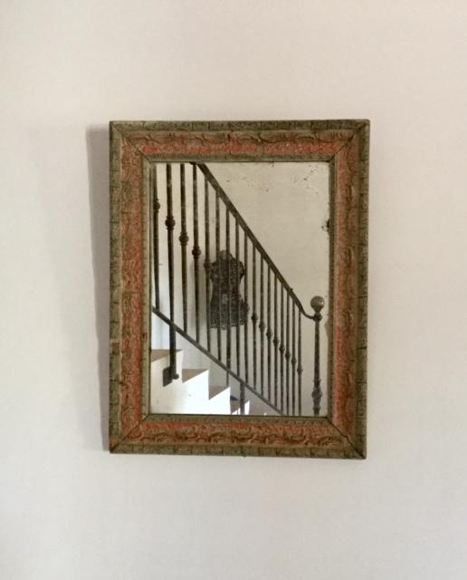 Antieke Brocante Spiegel.Antieke Franse Landelijke Brocante Spiegel In Lijst
