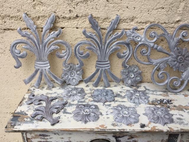 Betere Franse gietijzeren ornamenten korenschoof schoof pluim | Decoratie OF-27