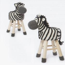 Pakket dierenkruk zebra
