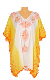 White and yellow kaftan