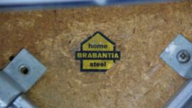 2 gele skai leren krukjes van Brabantia