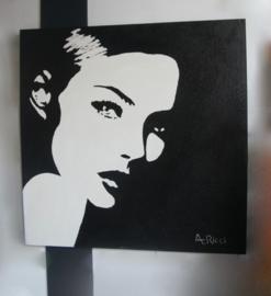 Groot zwart wit schilderij van A.Ricci