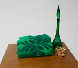 Vintage jaren 70 groene deken