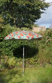 Parasol met knik vol bloemen