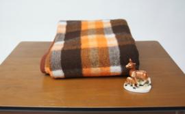 Viintage oranje, bruine ruit kleine deken van DRALON