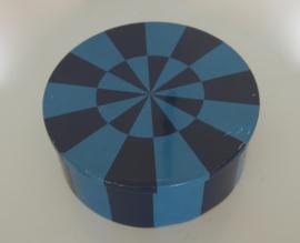 Groot blauw blik IRA design