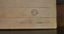 Grote vintage poster van Carl Larsson : Namnsdag pa harbret