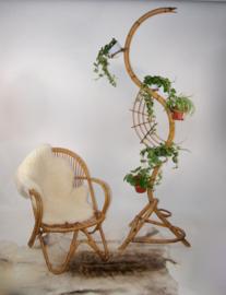 Vintage rotan rohe stoel