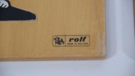 Houten ROLF schoolpuzzel ; goochelaar