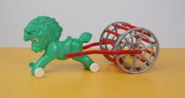 Jaren 70 plastic paard met wagen kinderspeelgoed