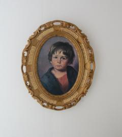 Vintage prent huilend jongetje van Bragolin