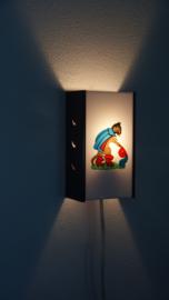 Paars kinderlampje met gelaarsde kat