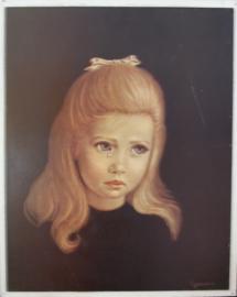 Schilderijtje van huilend meisje door Spencer