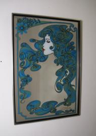 Vintage L'Oreal spiegel / vintage kapperspiegel