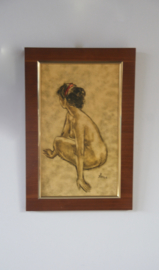 Vintage naaktschilderij B Simon