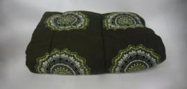 Vintage groene slaapzak