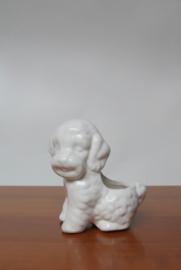 Vintage bloempot in de vorm van een hond