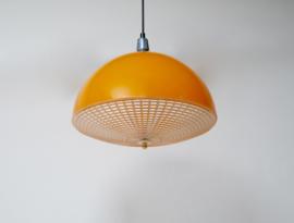 Vintage oranje LAKRO hanglamp