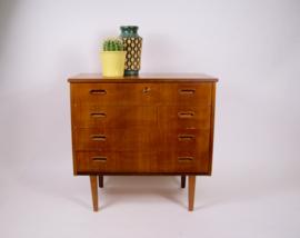 Vintage ladekast, jaren 60 kast, scandinavisch design