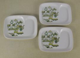 3 vintage Figgjo Flint borden
