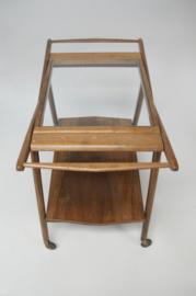 Vintage houten serveerwagen