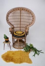 Vintage pauwenstoel / peacock chair