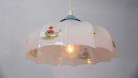Vintage wit glas kinderkamer hanglamp