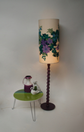 Paarse jaren 70 vloerlamp