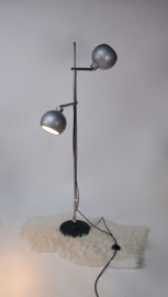 Design staande bollamp in metallic kleur