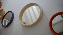 Witte spiegel met skai leer