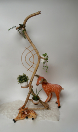 Rotan plantenstandaard slang