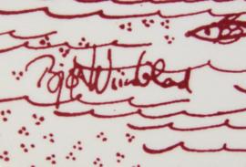 Vintage decoratietegel van Björn Wiinblad Nocturne