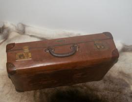 Oude vintage koffer Vulkanfiber