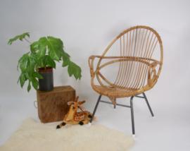 Vintage Rotan Rohe kuipstoel