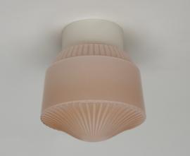 Art deco zacht roze plafondlamp