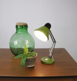 Groen bureaulamp met zwarte kap