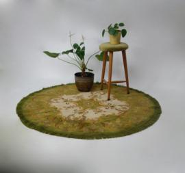 Vintage groen vloerkleed