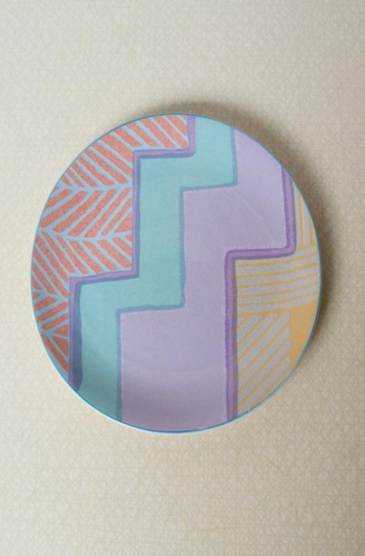 Vintage bord met pastelkleuren
