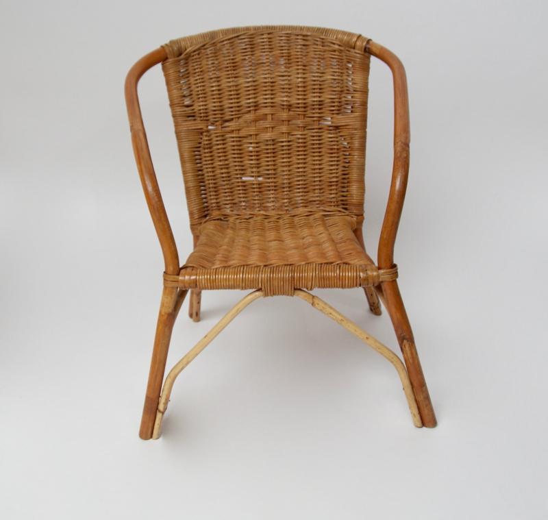 Retro Rotan Kinderstoeltje.Vintage Rieten Rotan Kinderstoeltje Alle Andere