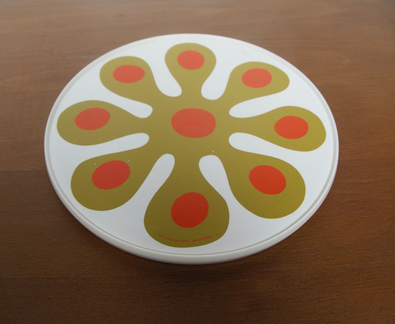 Flower power turntable/ draaibaar dienblad Lazy Susan